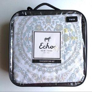 Echo Design Mandala Marco Gray Twin Duvet Mini Set